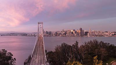 Sunrise From Treasure Island Of San Francisco Poster by John McGraw