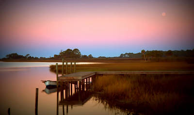 Sunrise In Apalachicola Poster by Jennifer Stackpole