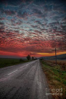 Sunrise In Autumn Poster