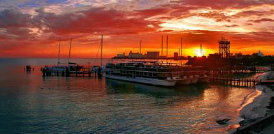 Sunrise In Cancun Poster