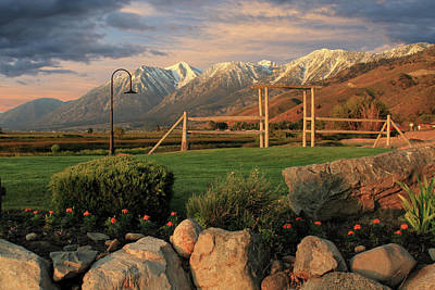 Sunrise In Carson Valley Poster by James Eddy