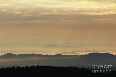 Sunrise In The Mountains - Hills In Morning Mist Poster by Michal Boubin