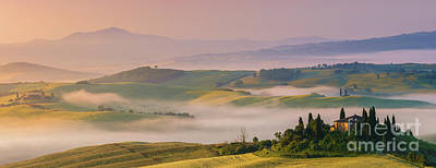 Sunrise In The Tuscany Poster by Henk Meijer Photography