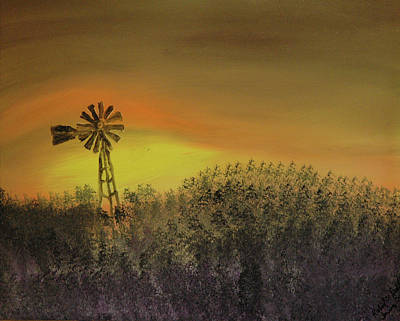 Sunrise In West Texas Poster by Richard Dalton