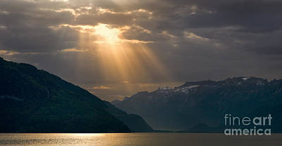 Sunrise Lake Thun, Switzerland Poster