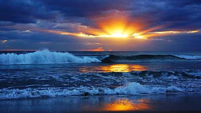 Sunrise Light Wave  Poster