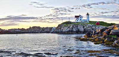 Sunrise Nubble Lighthouse - York - Maine Poster