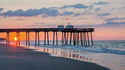 Sunrise Ocean City Fishing Pier Poster