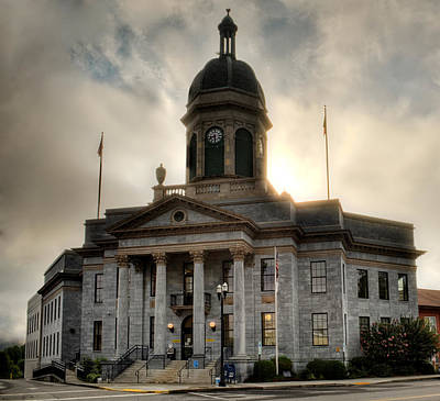 Sunrise On Cherokee County Courthouse Poster