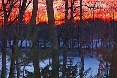 Sunrise On Farrington Lake Poster by Aron Chervin