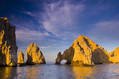 Sunrise On Lands End, Los Arcos Rock Poster by Ralph Lee Hopkins