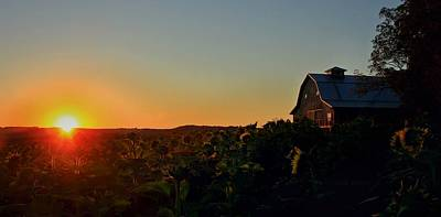 Poster featuring the photograph Sunrise On The Farm by Chris Berry