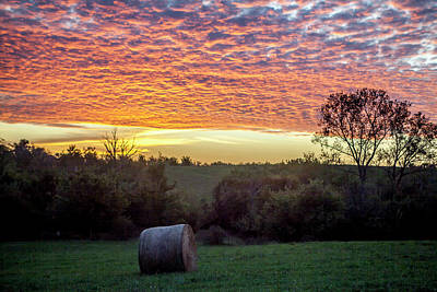 Poster featuring the photograph Sunrise On The Farm by Wade Courtney