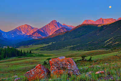 Sunrise On The Lost River Range Poster
