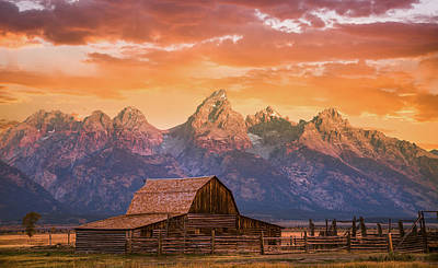 Poster featuring the photograph Sunrise On The Ranch by Darren White