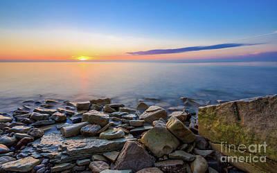 Sunrise On The Rocks Poster by Andrew Slater