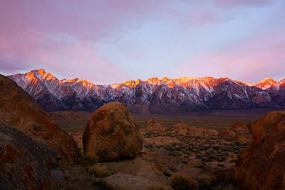 Sunrise On The Sierra Mountains Poster by Tranquil Light Photography