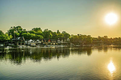 Sunrise Over Boathouse Row In Philadelphia Poster by Bill Cannon