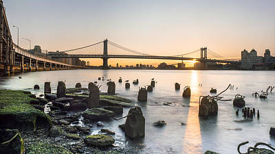 Sunrise Over East River Beach Poster by Adam Miller