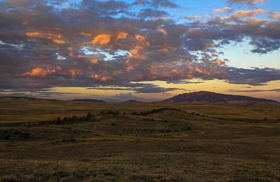 Sunrise Over Elk Mountain Poster
