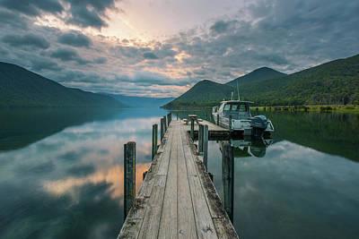 Sunrise Over Lake Rotoroa Poster