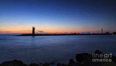 Sunrise Over Lighthouse - Beautiful Seascape Poster by Mohamed Elkhamisy