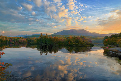 Sunrise Over Mt. Katahdin Poster