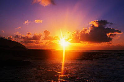 Sunrise Over Ocean, Sandy Beach Park Poster by Panoramic Images