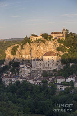 Sunrise Over Rocamadour Poster by Brian Jannsen