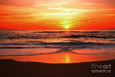 Sunrise Reflecting By Kaye Menner Poster