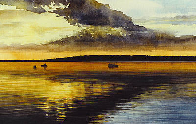 Sunrise Rockland Harbor Poster