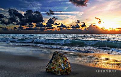 Sunrise Seascape Wisdom Beach Florida C3 Poster