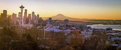 Seattle Sunrise Poster by Seattle Art Wall