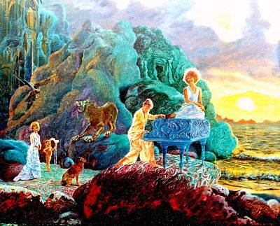Poster featuring the painting Sunrise Sonata by Henryk Gorecki