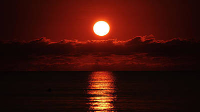 Sunrise Spotlight Delray Beach Florida Poster