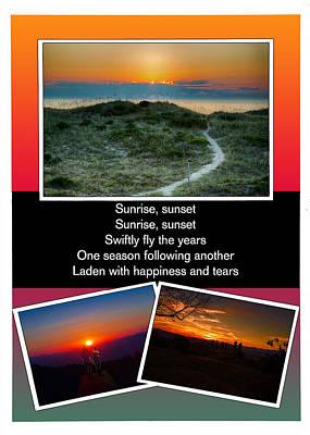 Sunrise Sunset Poster by John Haldane