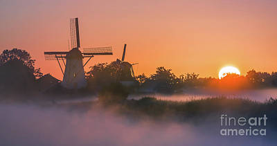 Sunrise Ten Boer - Netherlands Poster by Henk Meijer Photography