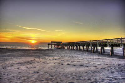 Sunrise Tybee Island Pier Poster by Reid Callaway