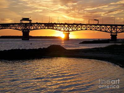 Sunrise Under Coleman Bridge Poster