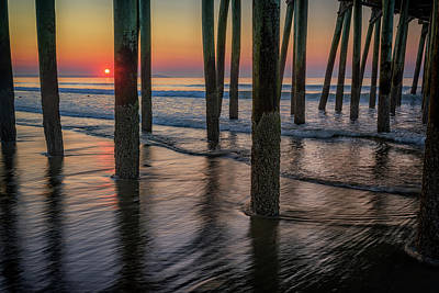 Poster featuring the photograph Sunrise Under The Pier by Rick Berk