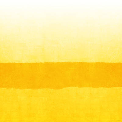 Sunrise- Yellow Abstract Art By Linda Woods Poster