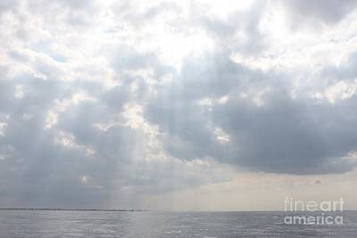 Suns Rays Over The Atlantic Ocean Poster