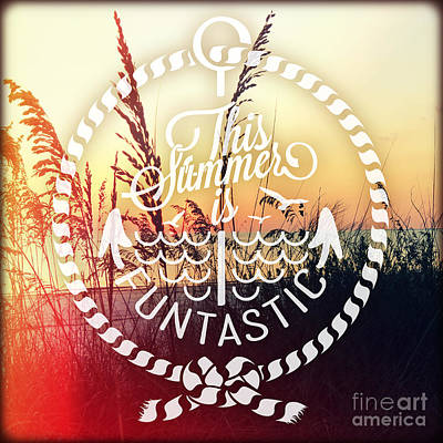 Sunseat Sea Oats Poster by Chris Andruskiewicz