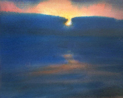Poster featuring the painting Sunset 1 by Valeriy Mavlo
