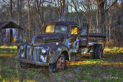 Sunset 1947 Ford Stakebed Pickup Truck 2 Poster by Reid Callaway