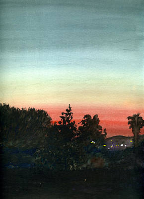 Poster featuring the painting Sunset #26 Lemon Grove by Brian Meyer