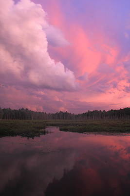 Sunset After Thunderstorm Poster by John Burk