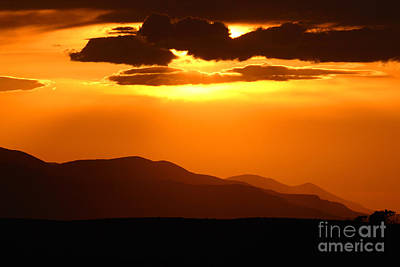 Poster featuring the photograph Sunset Along Colorado Foothills by Max Allen
