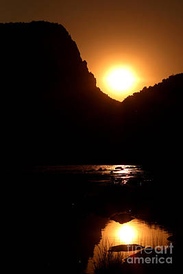 Poster featuring the photograph Sunset Along The Yampa River by Max Allen