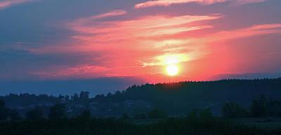 Sunset Poster by Anton Popov